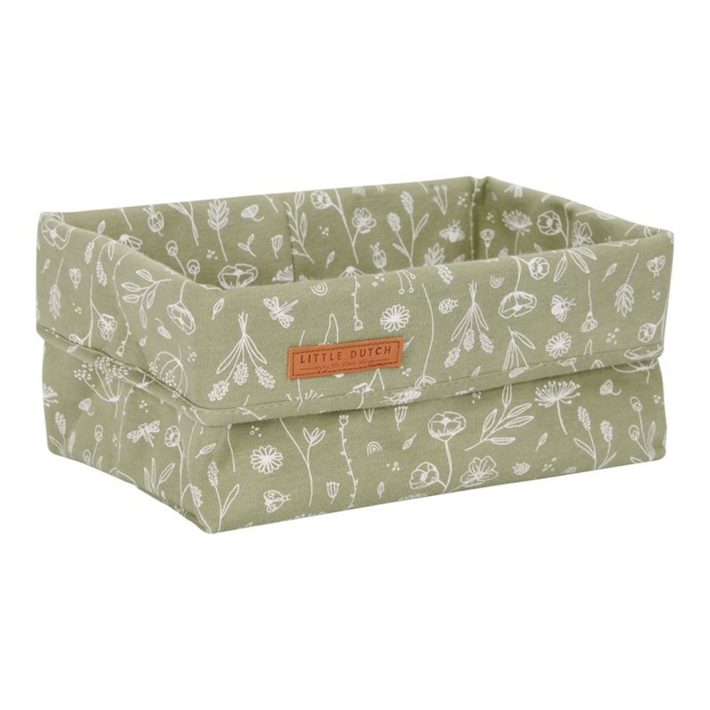 Picture of Storage basket, large Wild Flowers Olive