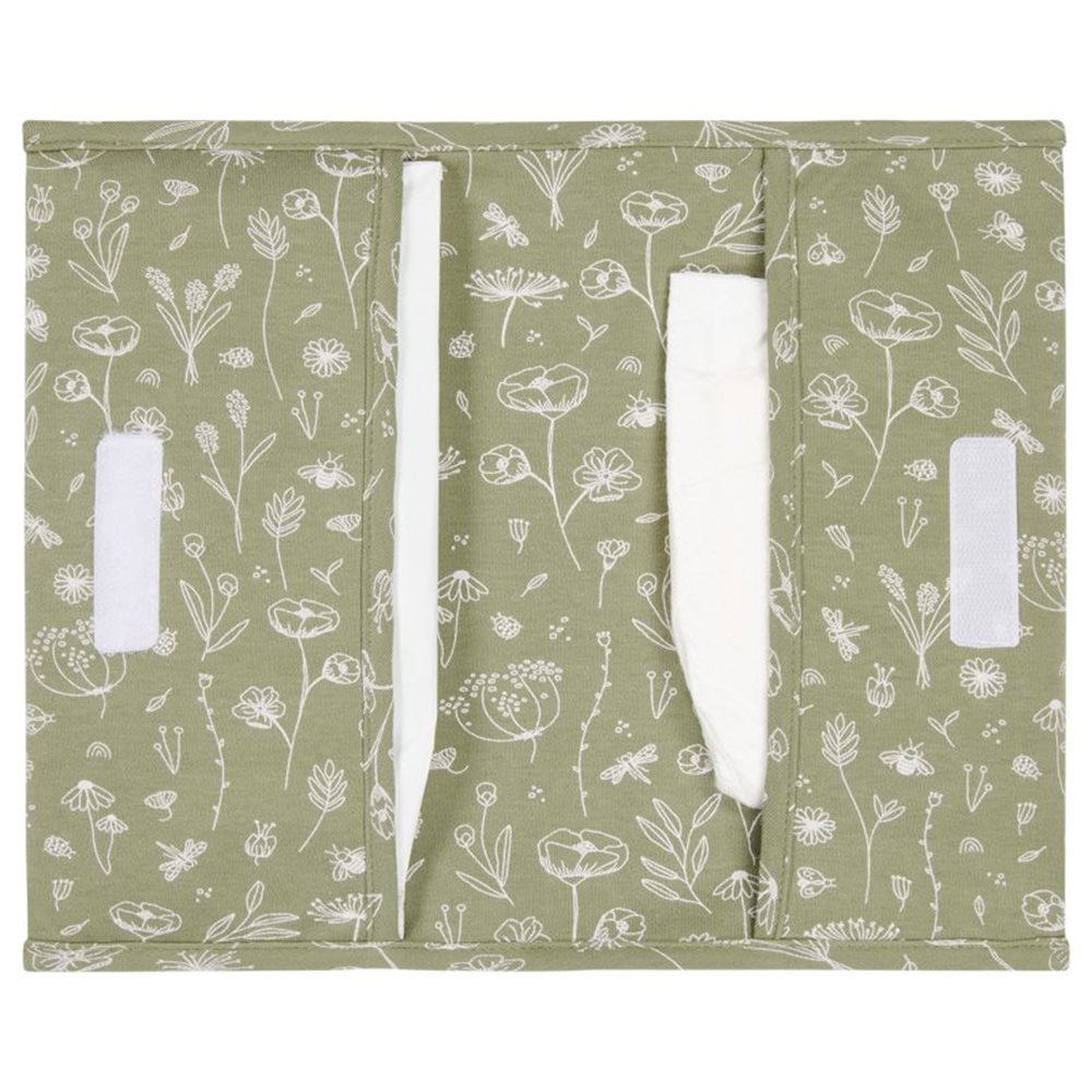Picture of Nappy pouch Wild Flowers Olive