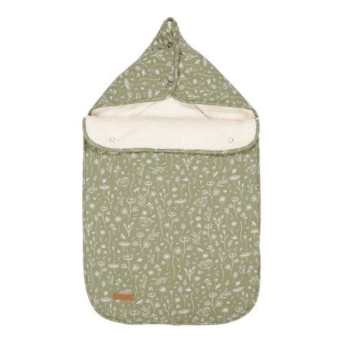 Babyschalen-Fußsack 0+ Wild Flowers Olive