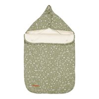 Picture of Car seat 0+ footmuff Wild Flowers Olive
