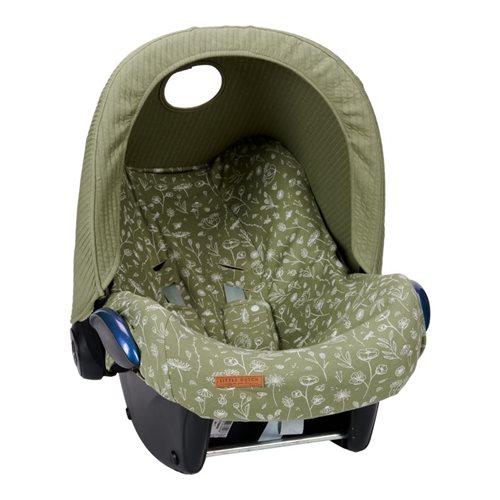 Babyschalen-Bezug 0+ Wild Flowers Olive