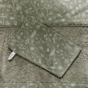 Picture of Washcloths set Wild Flowers Olive