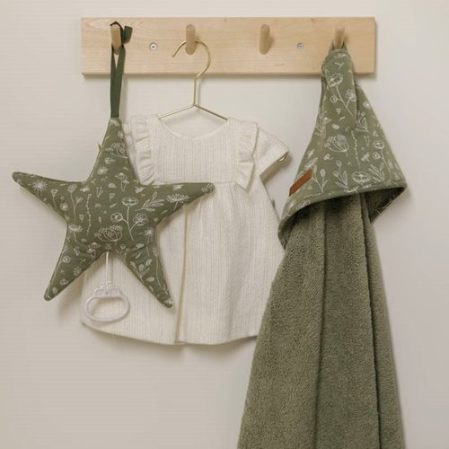 Picture of Hooded towel Wild Flowers Olive