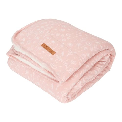 Picture of Bassinet blanket Wild Flowers Pink