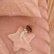 Doudou attache-sucette Wild Flowers Pink