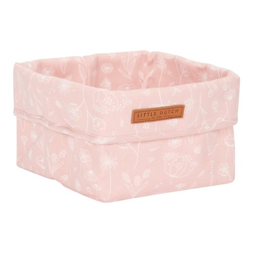 Picture of Storage basket, small Wild Flowers Pink