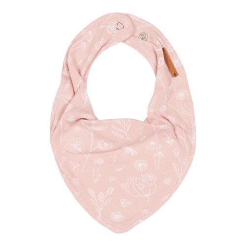 Bavoir bandana Wild Flowers Pink