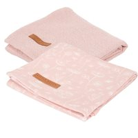 Langes Swaddles 70 x 70 Wild Flowers Pink / Pure Pink