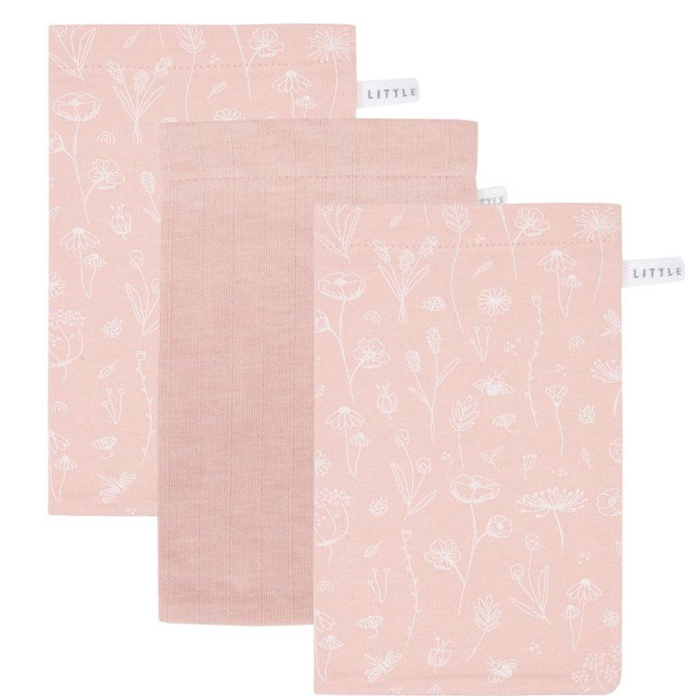 Waschhandschuhe Set Wild Flowers Pink