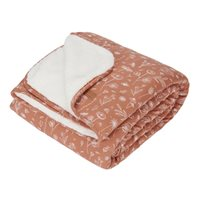 Picture of Cot blanket Wild Flowers Rust