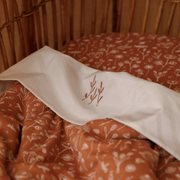 Picture of Bassinet blanket Wild Flowers Rust