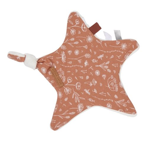 Picture of Cuddle cloth, star Wild Flowers Rust
