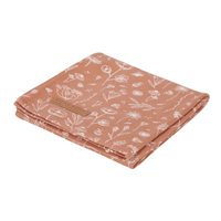 Picture of Swaddles 120 x 120 Wild Flowers Rust / Pure Rust