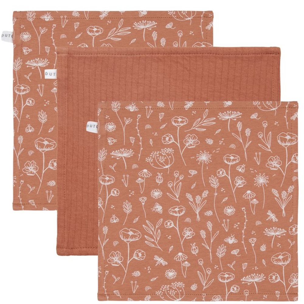 Picture of Facecloths Wild Flowers Rust / Pure Rust