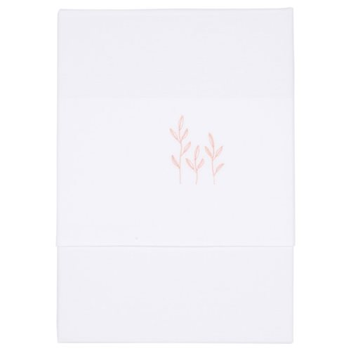 Picture of Bassinet sheet Wild Flowers Pink embroidered