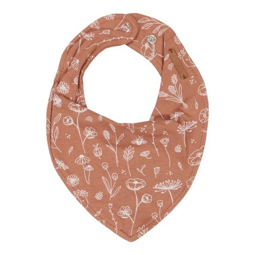 Picture of Bandana bib Wild Flowers Rust