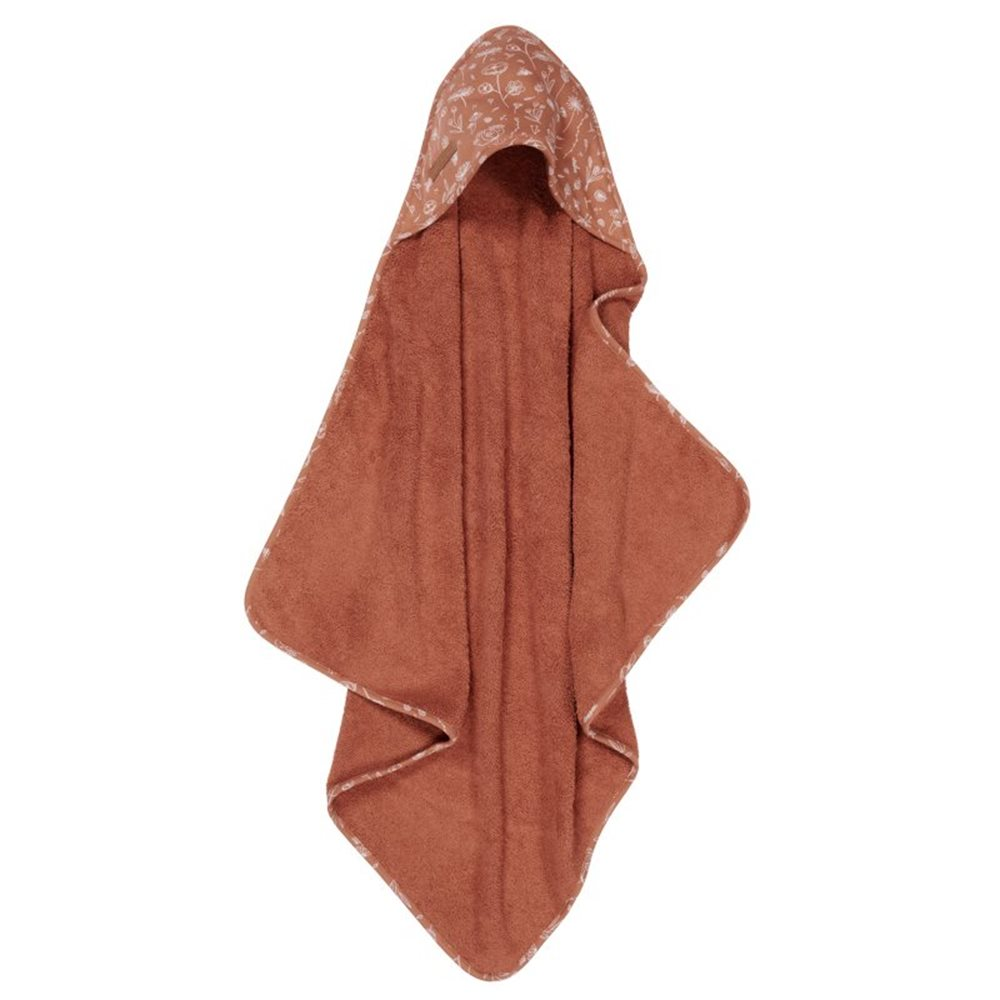 Picture of Hooded towel Wild Flowers Rust