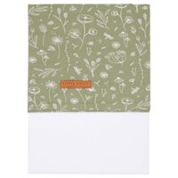 Picture of Cot sheet Wild Flowers Olive