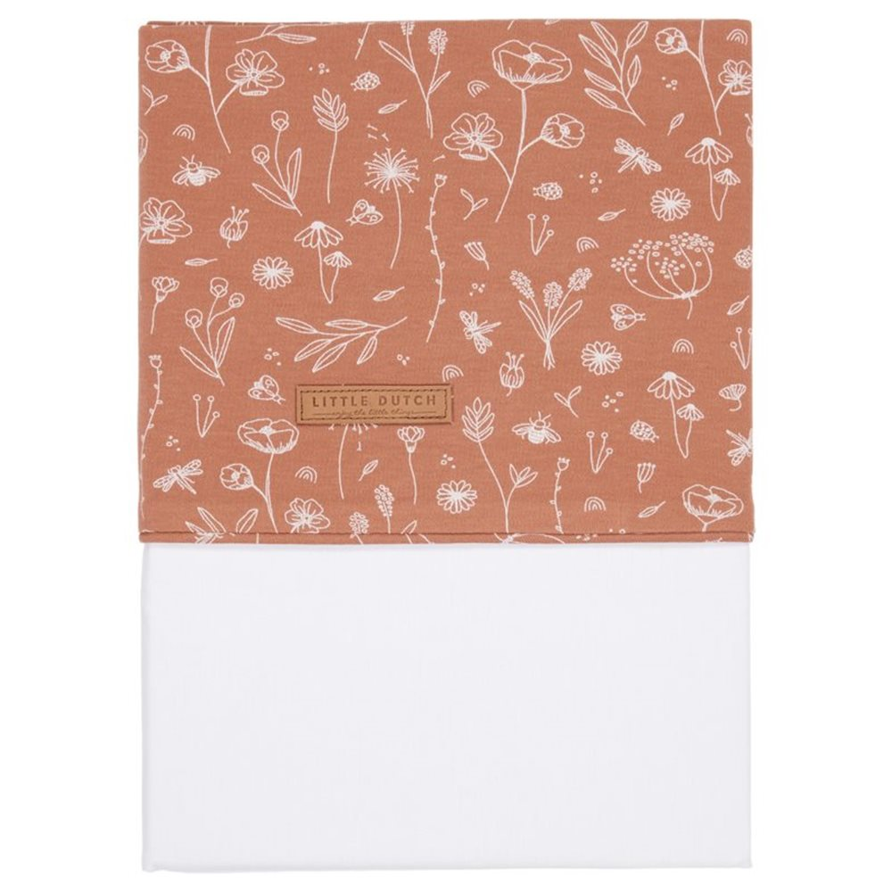Picture of Cot sheet Wild Flowers Rust