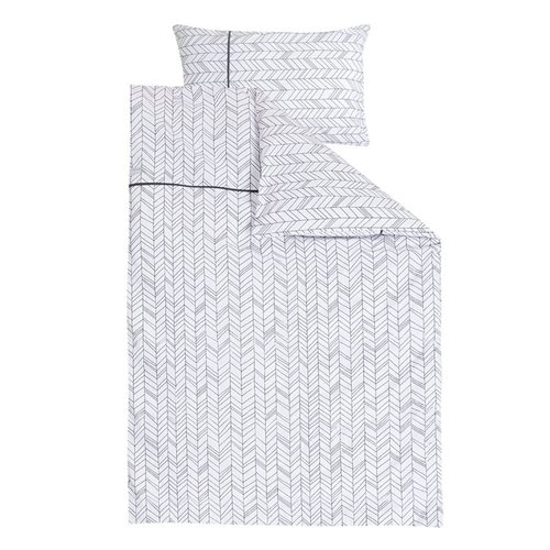 Picture of Single duvet cover White Leaves