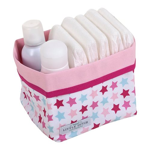 Panier de toilette petit Mixed Stars Pink