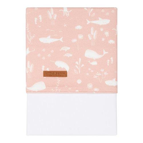 Drap de berceau Ocean Pink