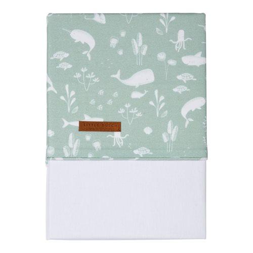 Picture of Bassinet sheet Ocean Mint