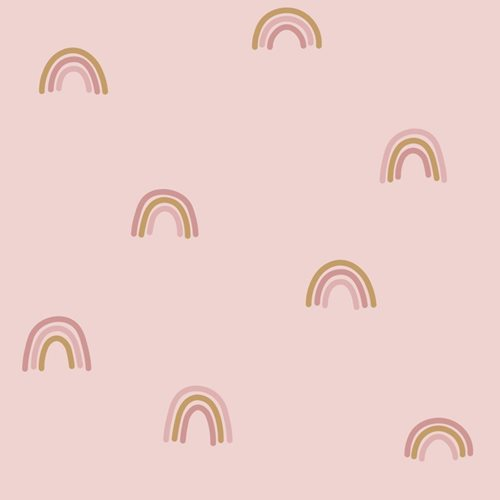 Picture of Non-Woven Wallpaper Little Rainbows Pink