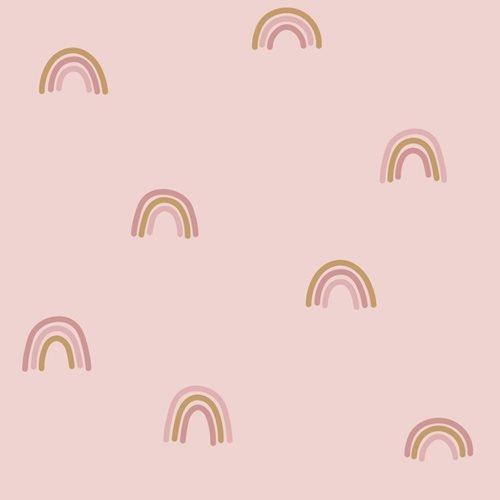 Vliestapete Little Rainbows Pink