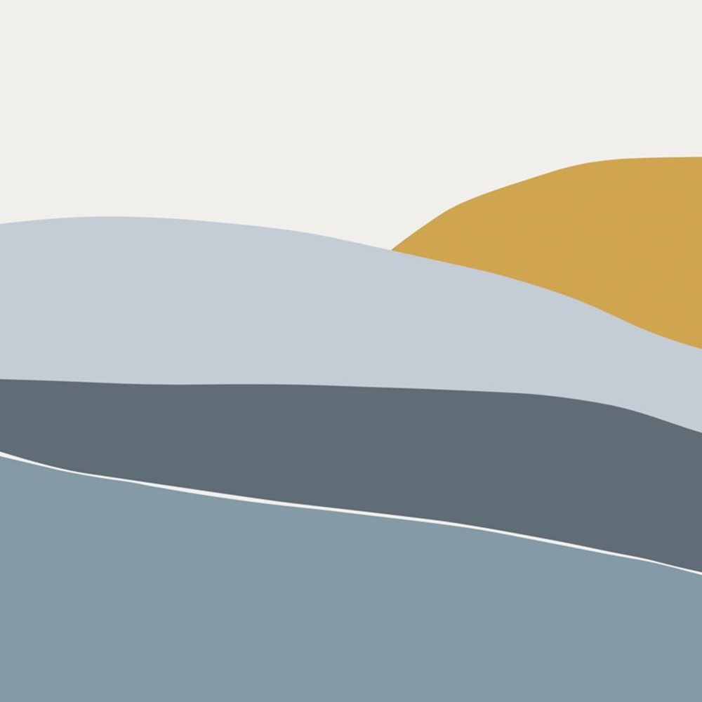 Afbeelding van Digitaal behang Horizon Blue