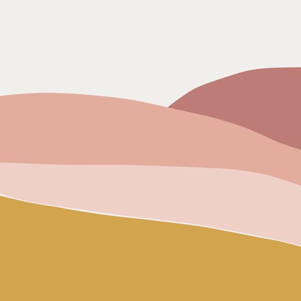 Afbeelding van Digitaal behang Horizon Pink