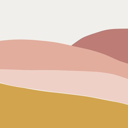 Picture of Digital non-woven wallpaper Horizon Pink