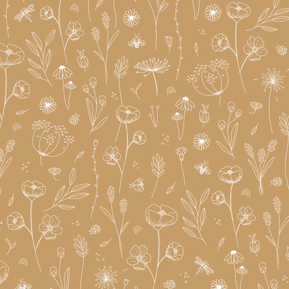 Échantillon de papier peint Wild Flowers Ochre