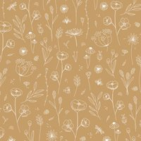 Picture of Wallpaper sample Wild Flowers Ochre