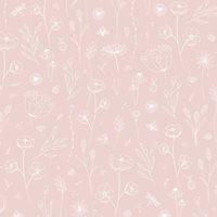 Tapete muster Vliestapete Wild Flowers Pink
