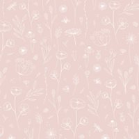 Picture of Wallpaper sample Wild Flowers Pink