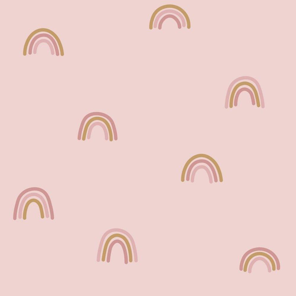 Afbeelding van Behangstaal vliesbehang - Little Rainbows Pink