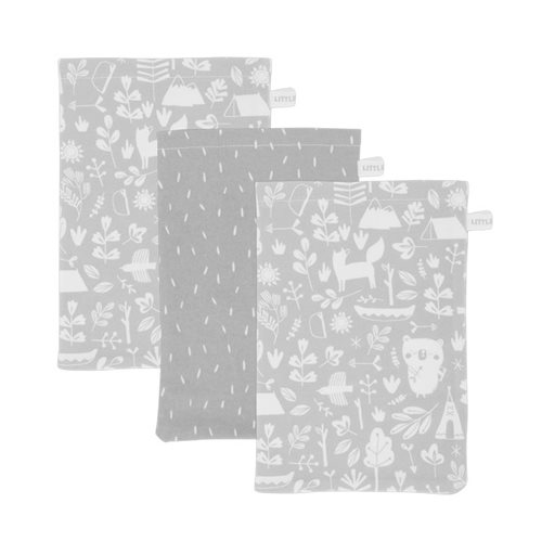 Afbeelding van Washand Adventure grey (set van 3)