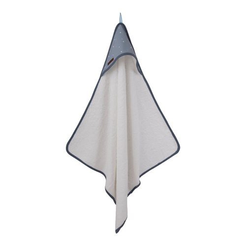 Picture of Hooded towel Little Stars blue
