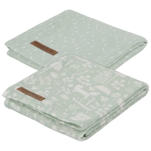 Langes swaddles 70 x 70 Adventure mint