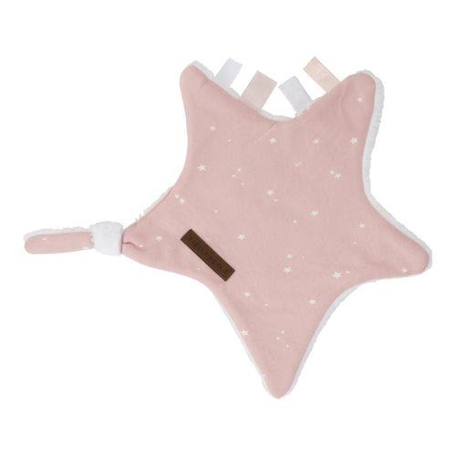 Kuscheltuch Stern Little Stars pink