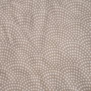 Drap-housse lit simple Beige Waves