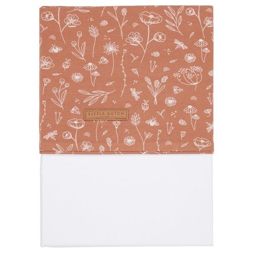 Picture of Bassinet sheet Wild Flowers Rust embroidered