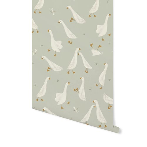 Picture of Digital non-woven wallpaper Little Goose