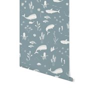 Picture of Non-Woven Wallpaper Ocean Blue