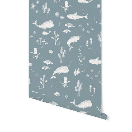 Picture of Non-Woven Wallpaper Ocean Blue