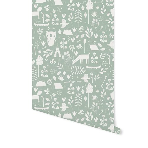 Picture of Non-Woven Wallpaper Adventure Mint