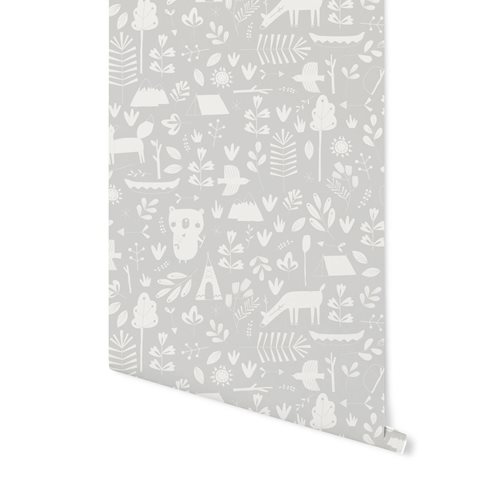 Papier peint intissé Adventure Grey