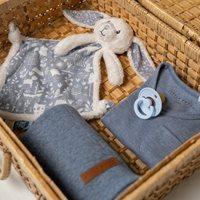 Afbeelding van Knuffeldoek konijn Adventure blue