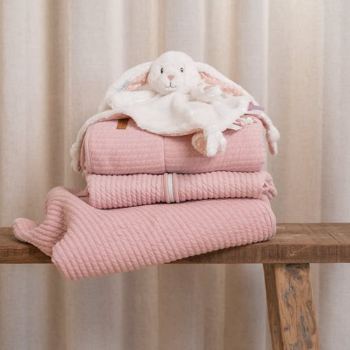 Doudou grand lapin Adventure pink